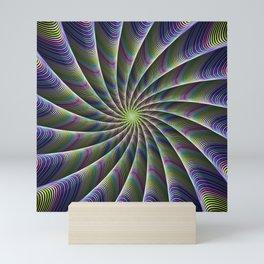 Fractal Art Spiraling Kaleidoscope Mini Art Print