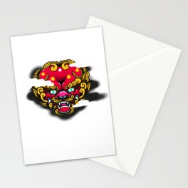 Red Foo Dog Stationery Cards