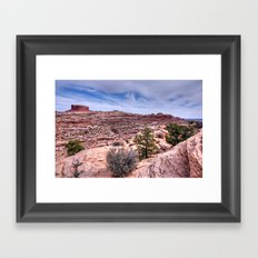 Monitor Butte on the Colorado Plateau Framed Art Print