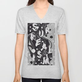 History of Art in Black and White. Surrealism Unisex V-Neck