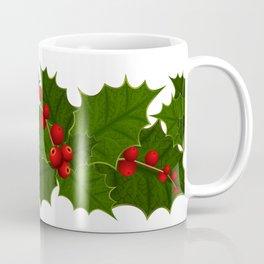 Christmas holly decoration Coffee Mug