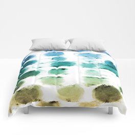 On the Beach Watercolor Painting Abstraction Comforters