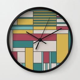 Random Rectangles Wall Clock