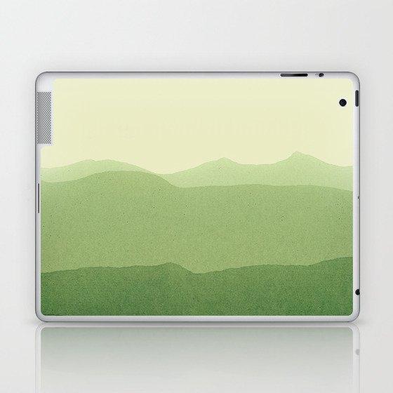 gradient landscape green Laptop & iPad Skin