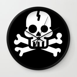 PIRATE'S FLAG Wall Clock