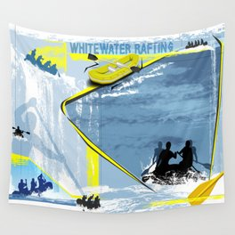 Whitewater Rafting Wall Tapestry