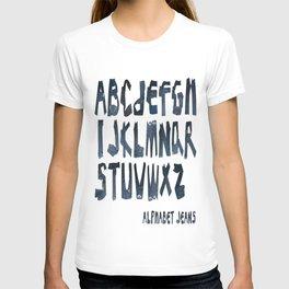 ALPHABET JEAN T-shirt
