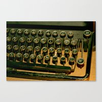 typo Canvas Prints featuring Typo by Foxtail Creations