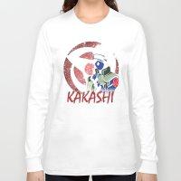kakashi Long Sleeve T-shirts featuring KAKASHI by BradixArt