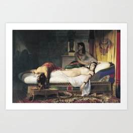 Jean-André Rixens - The Death of Cleopatra Art Print