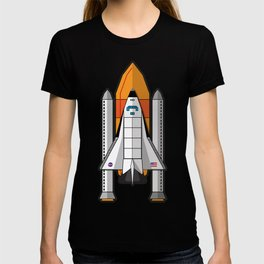Space Shuttle night launch T-shirt