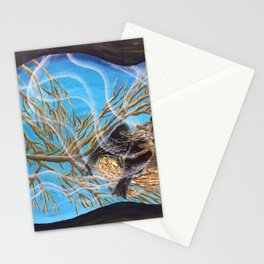 Private Cuban Cigar Crows Birds Nest Club - Real Cigar Bands! Stationery Cards
