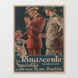 Vintage poster - La Rinascente Canvas Print