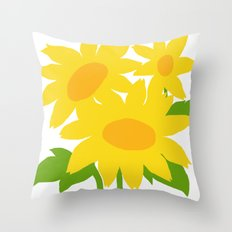 Yellow Green Good Cheer Throw Pillow