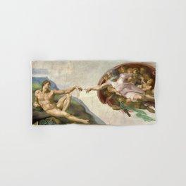 Michelangelo - Creation of Adam Hand & Bath Towel