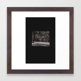 A chilling spine Framed Art Print