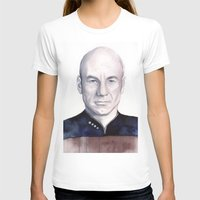 picard T-shirts featuring Captain Picard by Olechka