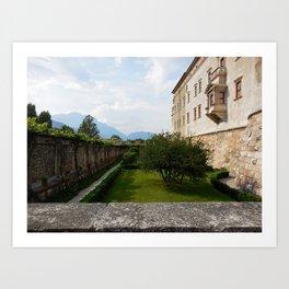 View Atop of Castello del Buonconsiglio Art Print