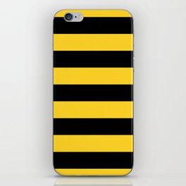 Yellow and Black Honey Bee Horizontal Cabana Tent Stripes iPhone Skin