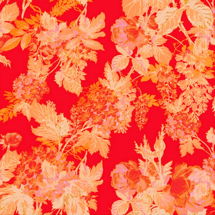 gold and red floral Comforters