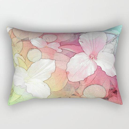 Trillium flowers Rectangular Pillow