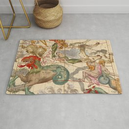 Star Atlas Vintage Constellation Map Ignace Gaston Pardies Rug