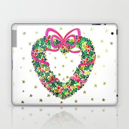 Xmas Heart Wreath Laptop & iPad Skin
