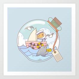 Bubu the Guinea pig, A jar of adventure Art Print