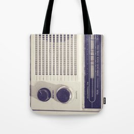 "on the radio... ""ANALOG zine""  Tote Bag"