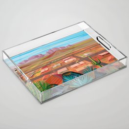 Desert Town Acrylic Tray