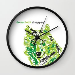 Wolf - do not let it disappear Wall Clock