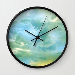 solo flight: aqua variations Wall Clock