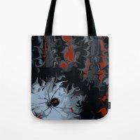 black widow Tote Bags featuring widow by Shea33