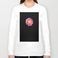 dahlia Long Sleeve T-shirts featuring Dahlia by Trevor Jolley