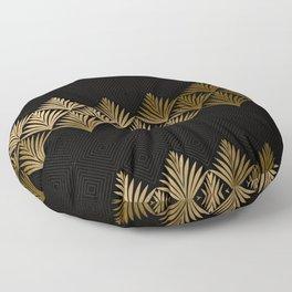 Reims, France: Luxueux Black and Gold Art Deco Floor Pillow