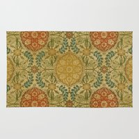 antique Area & Throw Rugs featuring Antique Vine by Durin Eberhart