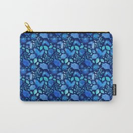 Pretty Australian Native Floral Print - Lovely Blue Carry-All Pouch