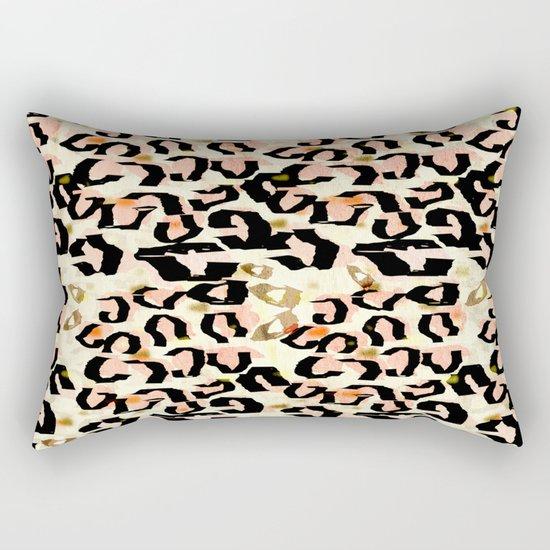 Abstract Leopard Print Rectangular Pillow