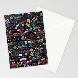 Basketball pattern. Little star. Stationery Cards