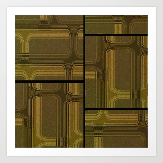 Retro shapes 03 Art Print