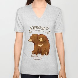 Fitness Bear by Devon Baker Unisex V-Neck