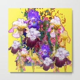 Decorative Blue-Red Spring Yellow & Metal Print