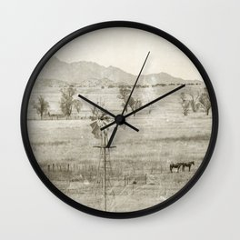 """""""Vintage Valley"""" by Murray Bolesta! Wall Clock"""