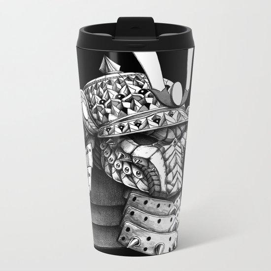 Samurai Helm Metal Travel Mug