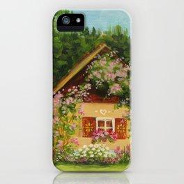 Tiny Cottage House iPhone Case