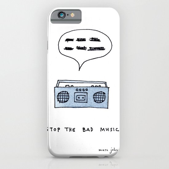 Stop the bad music iPhone & iPod Case