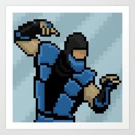 Pixel Sub-Zero - Version 2 Art Print