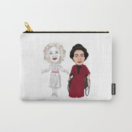 Whatever Happened to Baby Jane, Bette Davis, Joan Crawford Inspired Illustration Carry-All Pouch