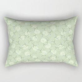 Lemon and green tea leaves. Rectangular Pillow