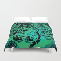 blues Duvet Covers featuring BLUES by Akinawa